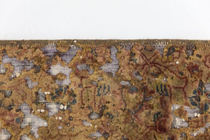 tapis persan travail contemporain ocre et creme détail 2