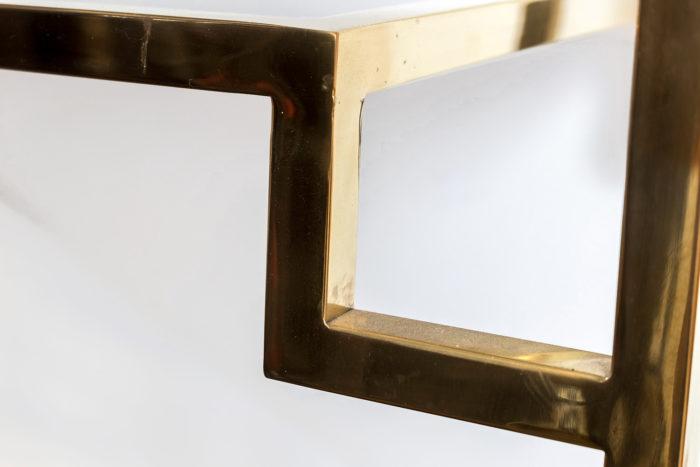 étagère laiton doré angle droit plateau