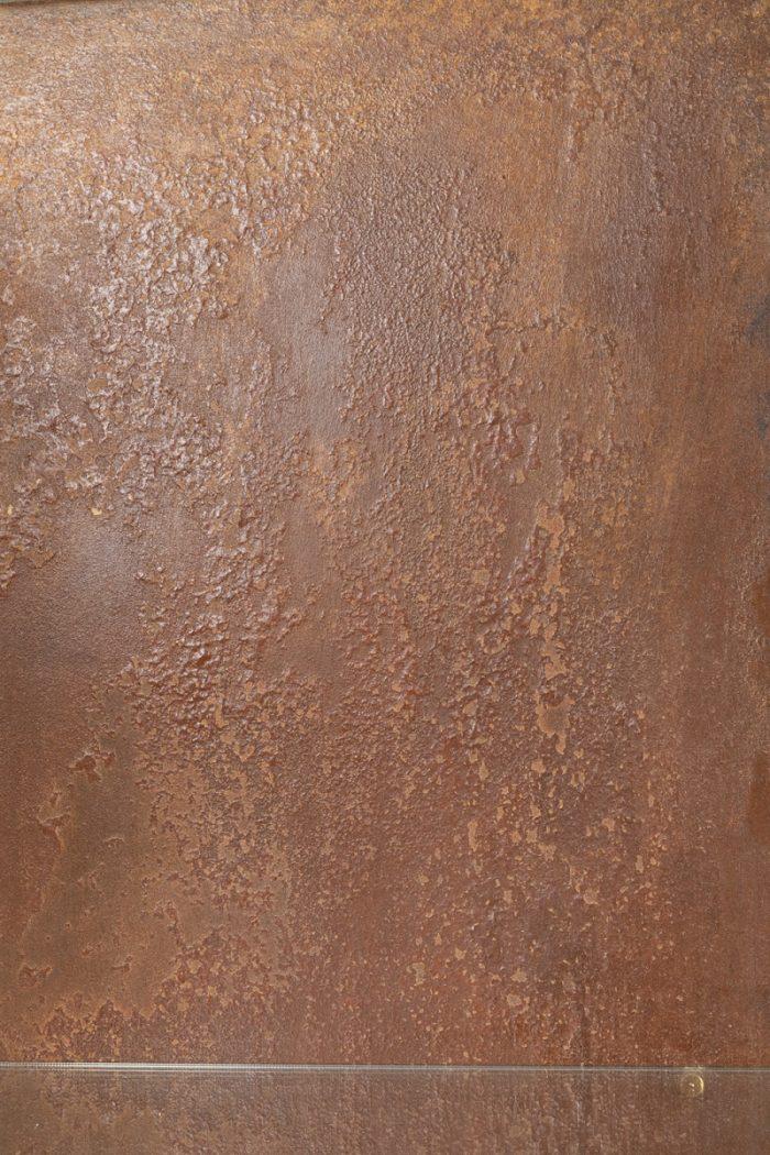 étagère moderniste plaque métal cuivré