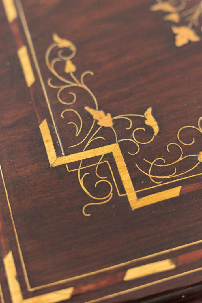 bouts de canapé acajou laiton doré plateau
