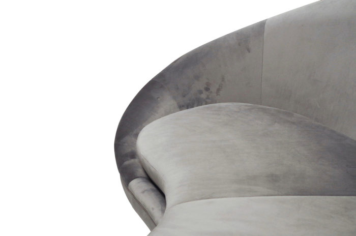 canape haricot velours gris detail 2