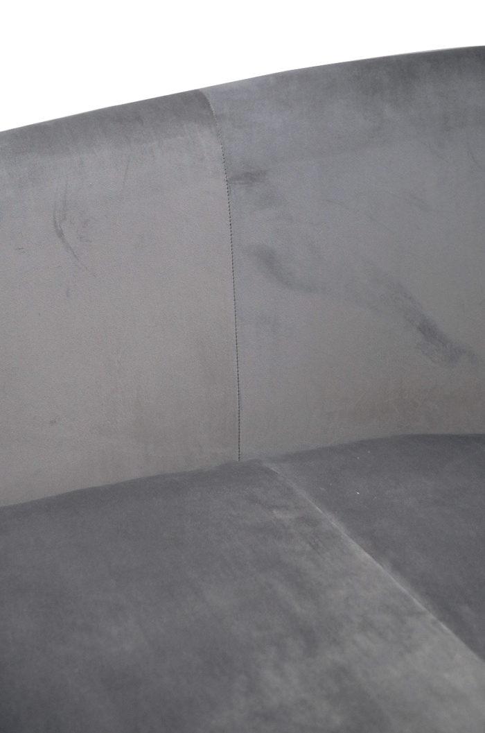 canape haricot velours gris detail