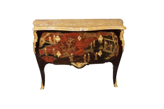 commode style louis xv laque chinoisante
