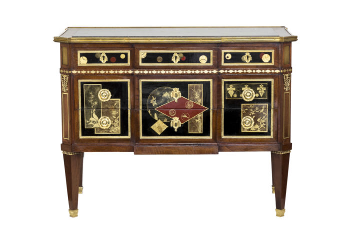 louis xvi style commode lacquer decor