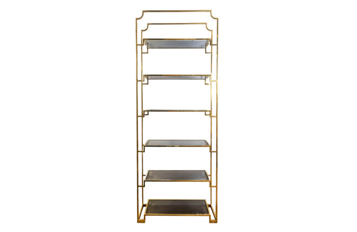 gilt brass shelf