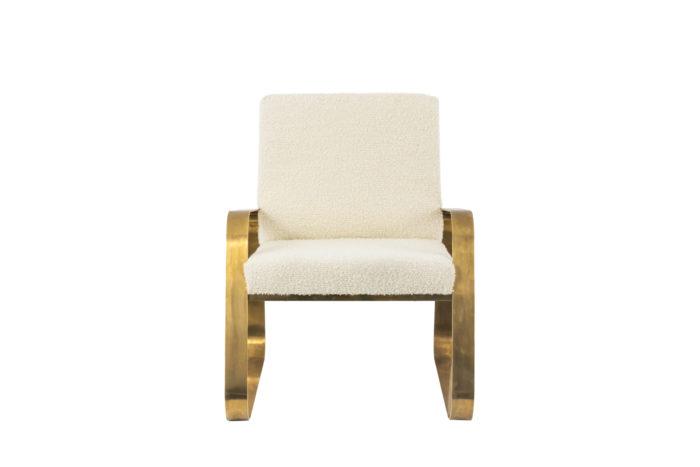 fauteuil moderne laiton doré bouclettes face