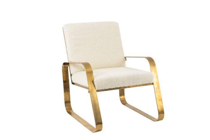 fauteuil moderne laiton doré brossé angle