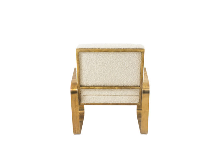 modern easy chairs gilt brushed brass back