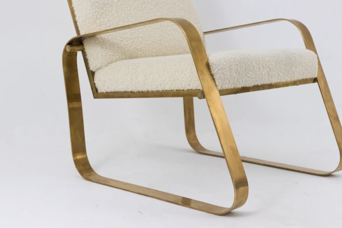 modern easy chairs gilt brushed brass legs