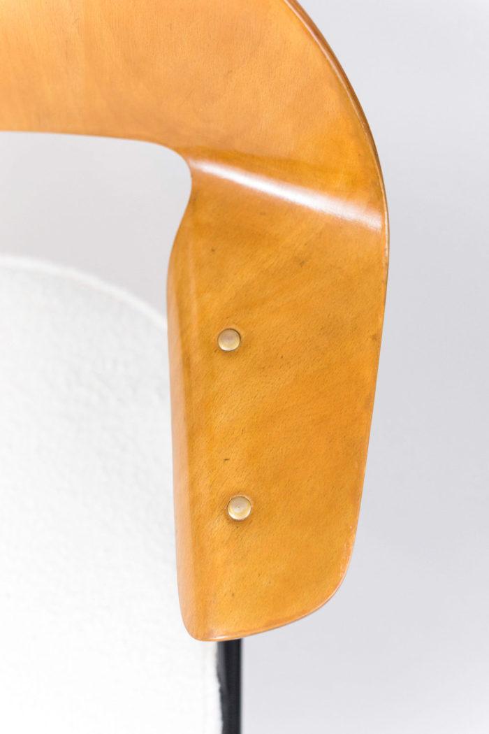 fauteuil robin day accotoir contreplaqué