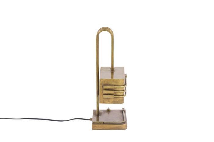 lampe bauhaus laiton doré side