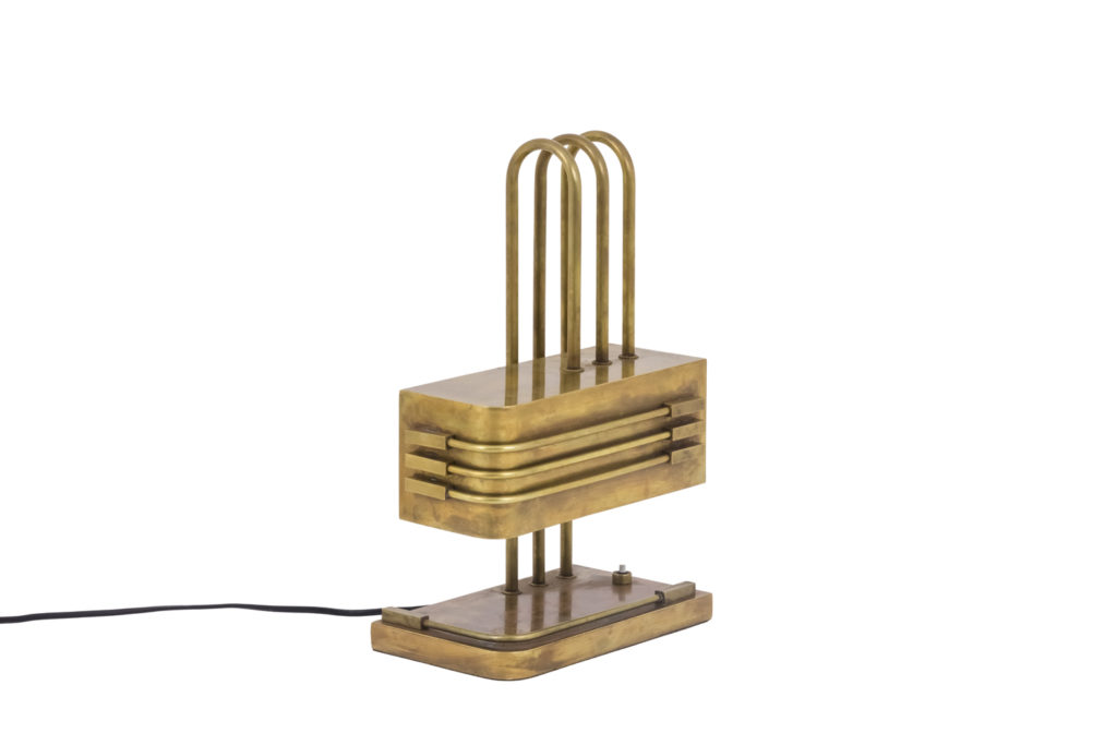 Bauhaus, Lampe en laiton, années 1920