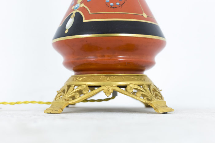 lampes porcelaine de paris base bronze doré