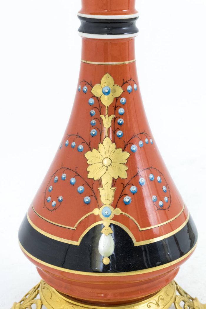 lampes porcelaine de paris orange décor or bleu noir