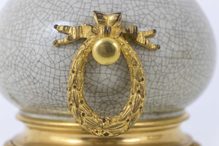 lampes style louis xvi couronne laurier anses