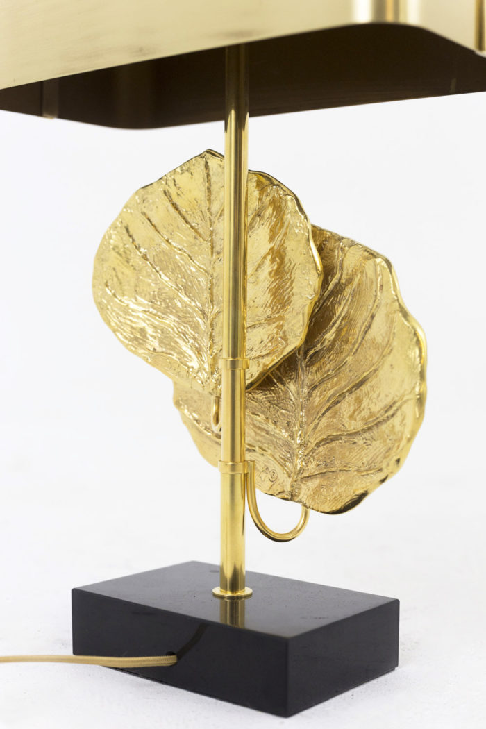 maison charles lampe guadeloupe bronze doré feuilles dos 2