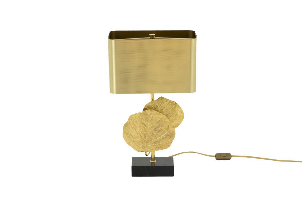 Maison Charles, Lampe Guadeloupe en bronze doré, années 1970