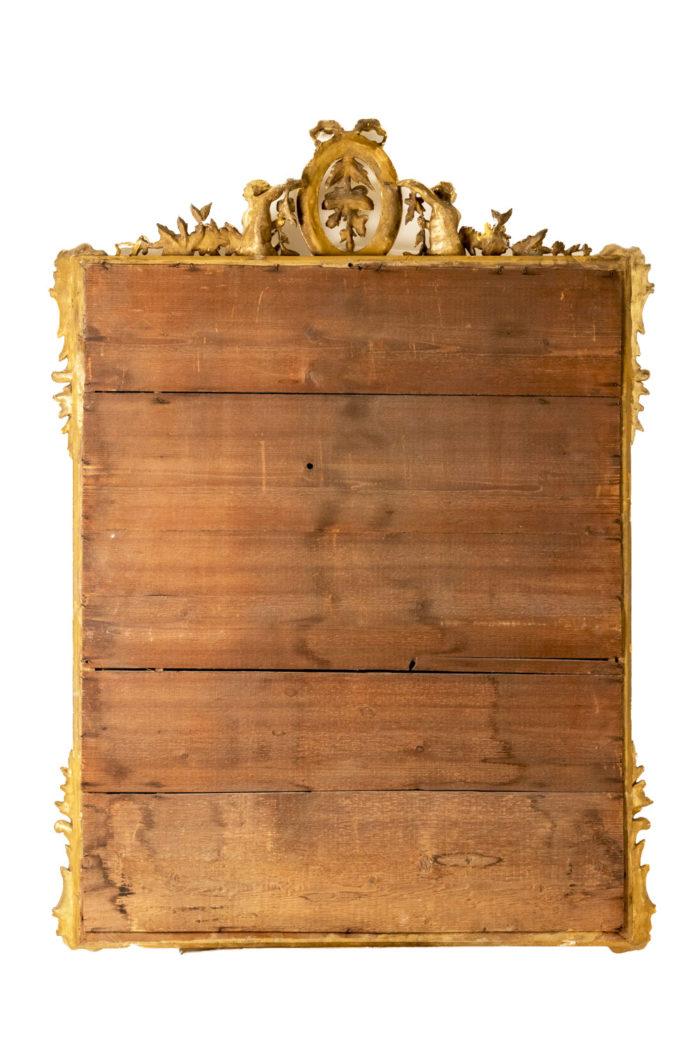 miroir à parecloses bois doré napoleon iii dos