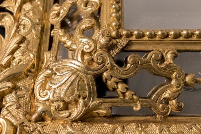 miroir à parecloses napoleon iii décor bois doré