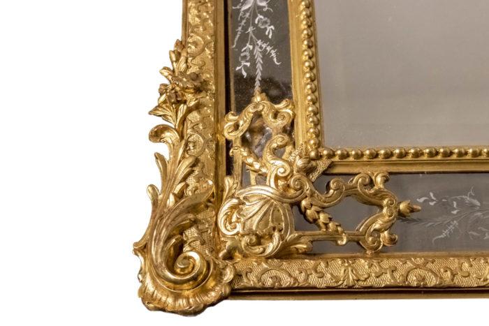 miroir napoleon iii bois doré