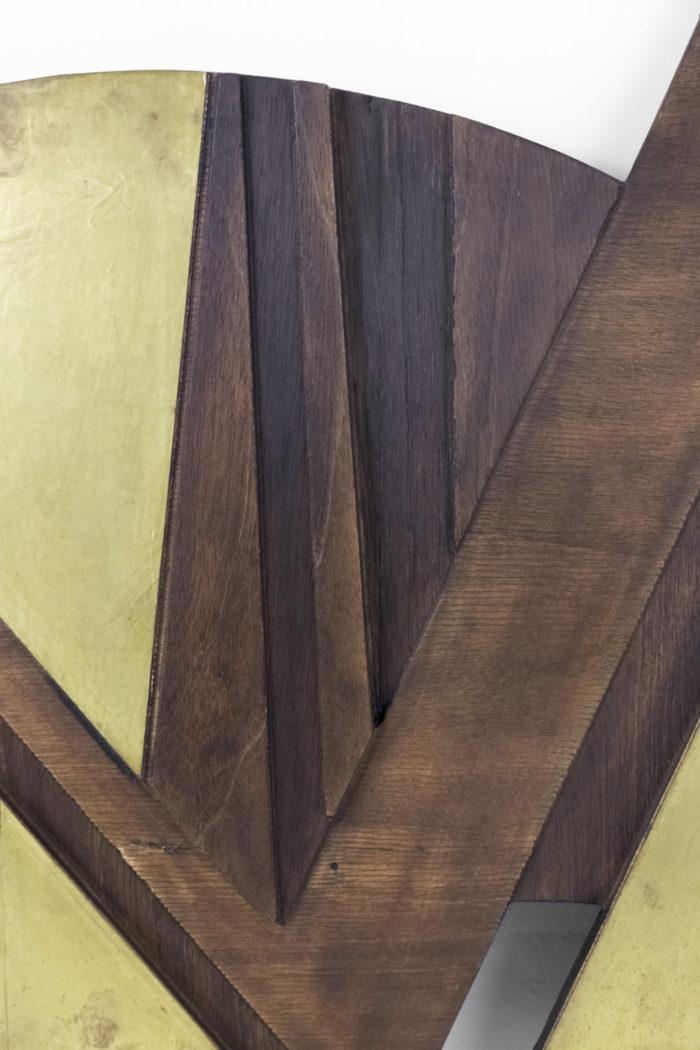 nerone bas relief bois metal dore