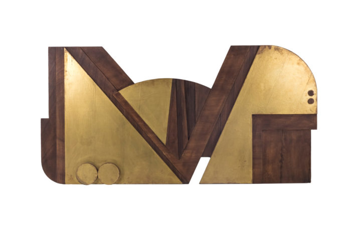 nerone ceccarelli bas relief wood gilt brass main