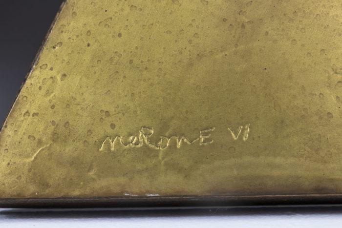 nerone ceccarelli bas relief signature