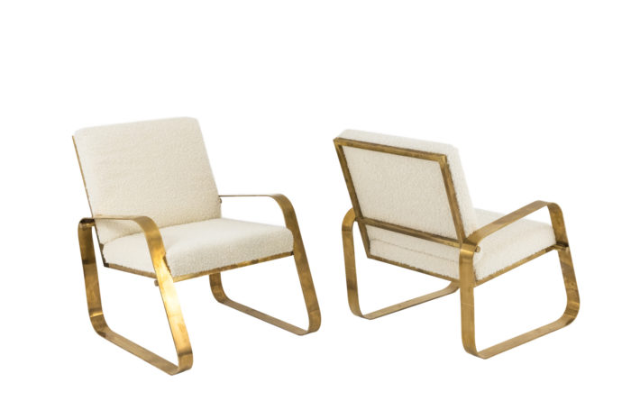 modern easy chairs gilt brass curls