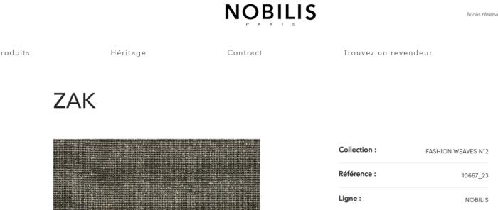 tissu nobilis zak chauffeuses france & son