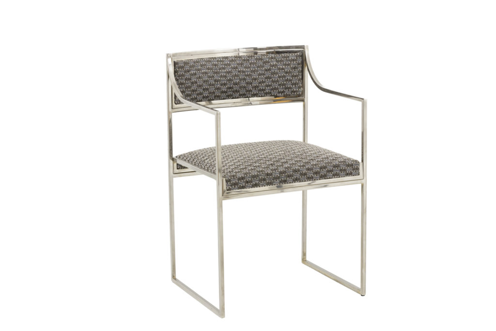 willy rizzo armchairs chromed metal angle