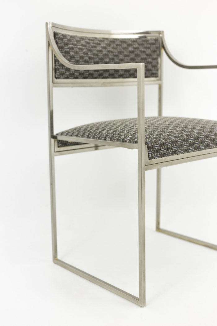 willy rizzo armchairs chromed metal leg