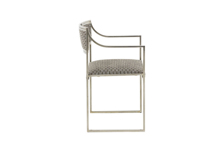 willy rizzo armchairs chromed metal side