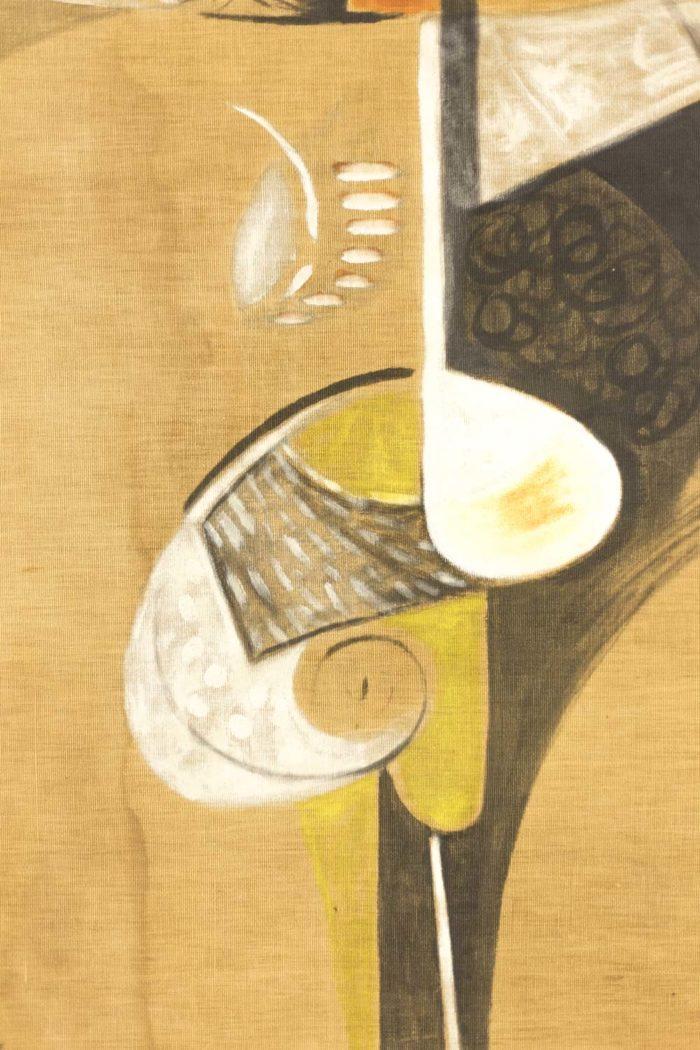 bocian composition abstraite jaune noir blanc