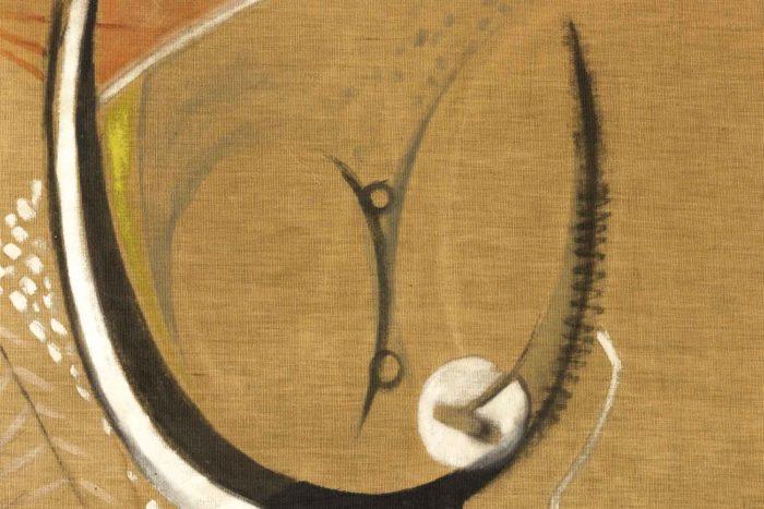 bocian composition abstraite ocres