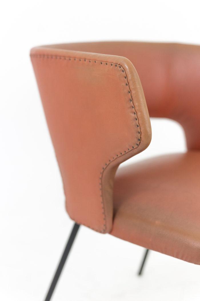 fauteuil skai orange accotoir