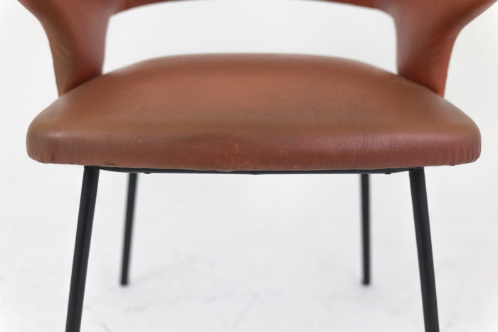 fauteuil skai orange années 1950