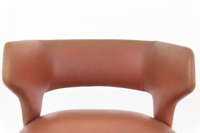 fauteuil skai orange dossier corbeille