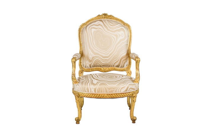 transition style armchairs gilt wood front