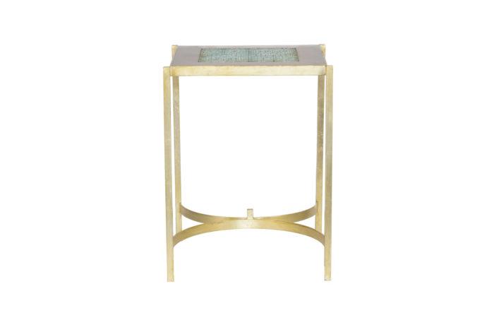 pedestal table earthenware gilt brass 1970's side