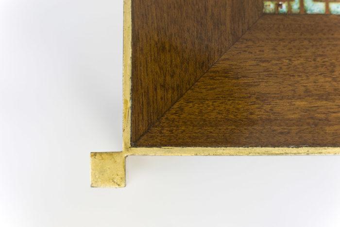 pedestal table earthenware gilt brass detail