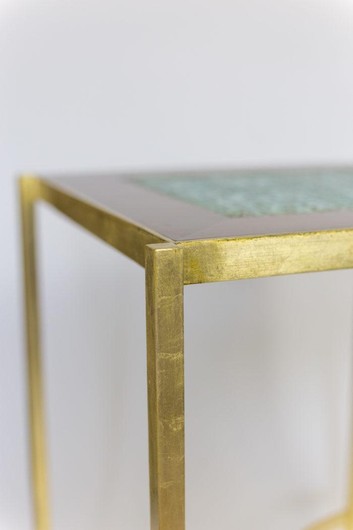 pedestal table earthenware gilt brass leg