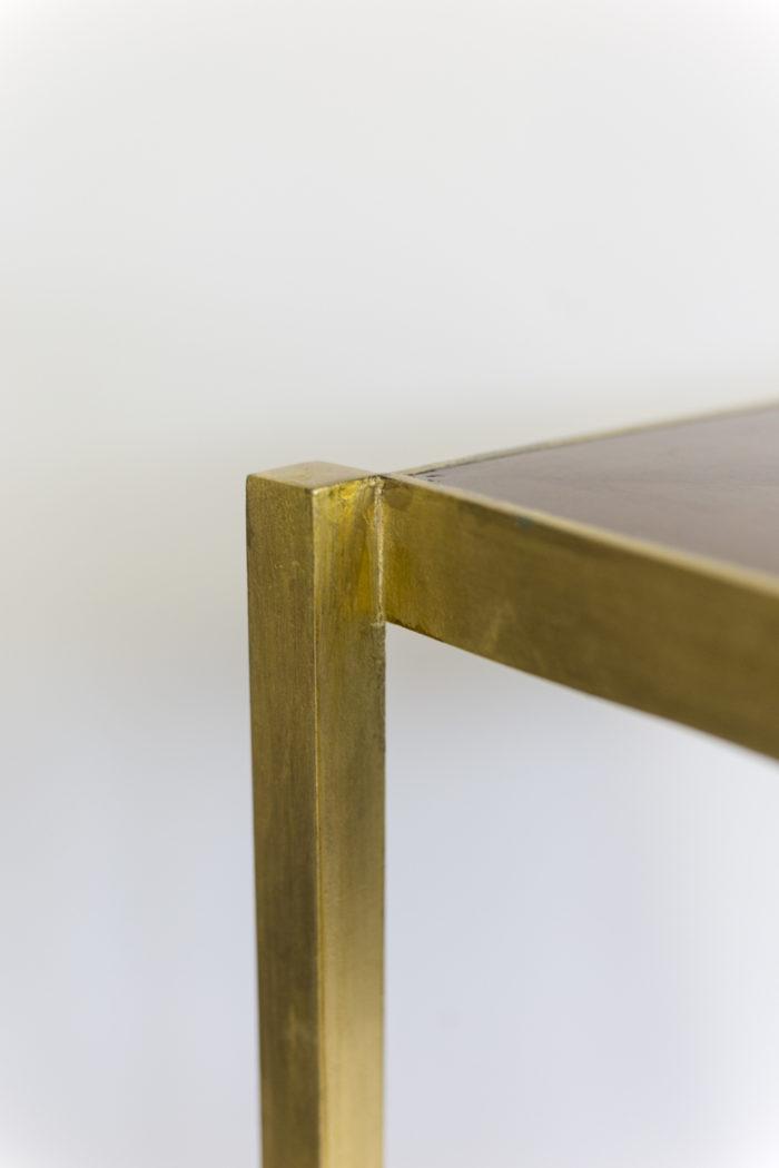 pedestal table earthenware gilt brass square leg