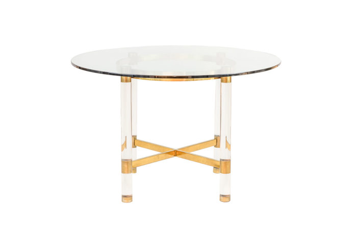 table sandro petti lucite gilt brass