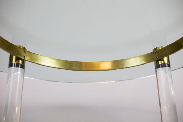 table sandro petti lucite gilt brass tray