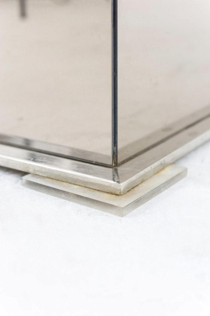 jardinières miroir métal argenté chromé base