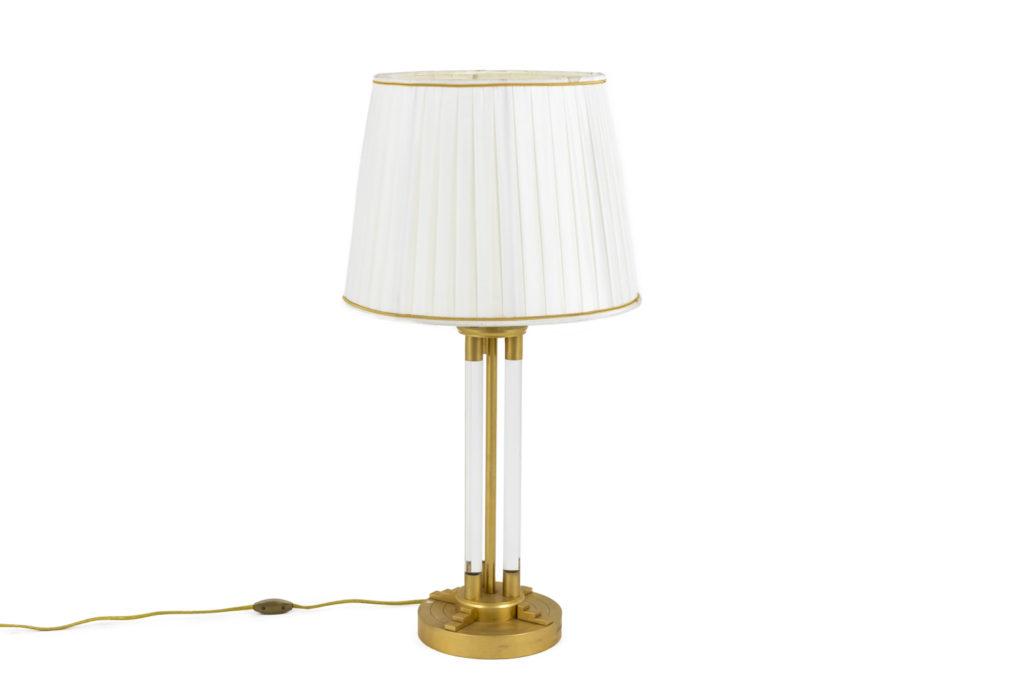 Lampe en lucite et bronze doré, années 1940