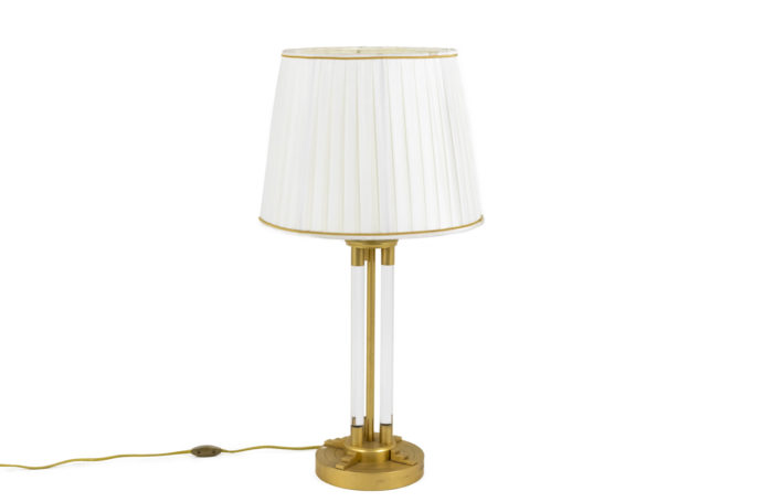 lampe lucite bronze doré 1940's