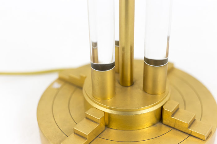 lampe lucite bronze doré 1940's base