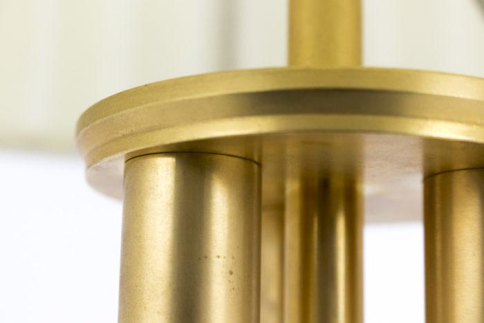 lampe lucite bronze doré haut bagues