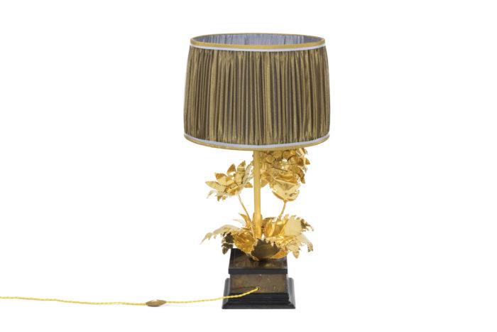 lampe tournesols laiton doré argenté back